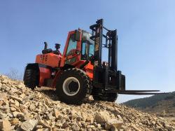 4 Tonnen-raues Gelände-Gabelstapler-Vierradlenkvierradantrieb-Gabelstapler
