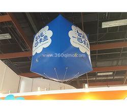 Forma de Cubo colgando de globos inflables publicitarios con logo personalizado GM3200