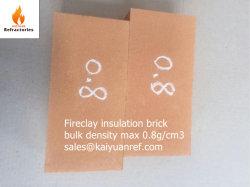 Fireclay Material de isolamento térmico de tijolo de Incêndio Leveza Brick Ng0.8