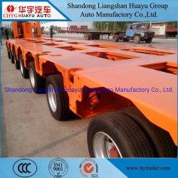 Для тяжелого режима работы 120/130/140/150/200t низкая кровать полуприцепов специальный автомобиль для перевозки моста формы