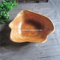 Nouveau naturellement en bois sculpté à la main racine Bol de fruits