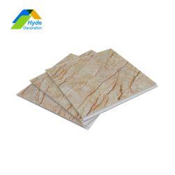 Diseño en 3D de mármol de Panel Plano de PVC tope para la Decoración de pared