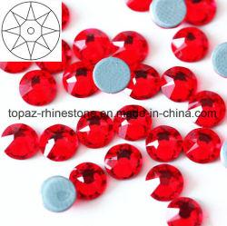 8+8 Novíssimo best selling SS16 Lt Siam cristal de vidro copiar Preciosa Rhinestone Hot Fix (IC-SS16 Lt Siam /5um grau)