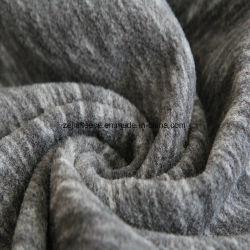 陽イオン印刷エフェクトマイクロフリース、ジャケットファブリック(ブラックとグレー)