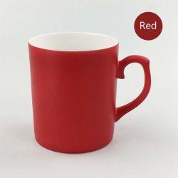 Qualidade elevada 11oz bone china muda de cor mate de cerâmica canecas Sublimação de canecas de revestimento (Vermelho)