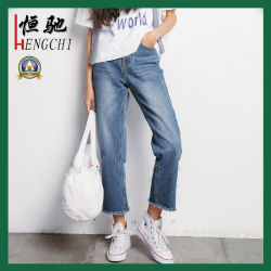Frauen-dünne BaumwolleElastane loses Denim keucht Hose-Denim-Jeans