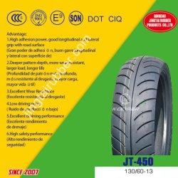 OEM de 13 pouces nouveau 6pr de la courroie de nylon en caoutchouc naturel des pneus diagonaux moto Pneu tubeless / pneu (130/60-13) à la norme ISO CCC DOT E-MARK