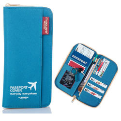 ディストリビューター旅行帯出登録者の安全はオルガナイザーのジッパーのパスポート袋の札入れを文書化する