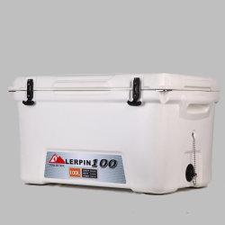 100L du refroidisseur d'alimentaire marine personnalisé, de la poitrine avec refroidisseur d'Outrigger 3 support de tige de la pêche