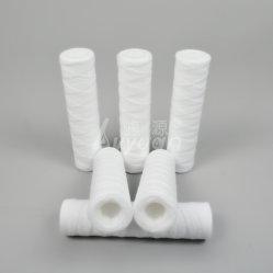 5 micron 40 inch gesponnen polypropyleen/katoen/glasvezel gewikkelde filtercartridge Voor industrieel waterfilter