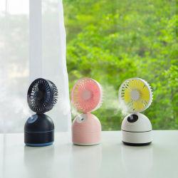 Im Freien Miniluft-Handwasser-Nebel-Spray-Kühlventilator mit den leistungsfähigen und sicheren Schaufeln