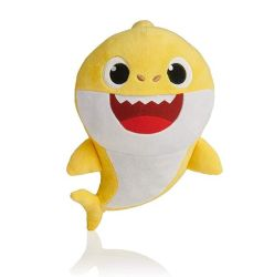 غناء وتألّق طفلة قرش قرش حيوان وثير لعبة سمك القرش الحشوة الموسيقية مع الأنوار