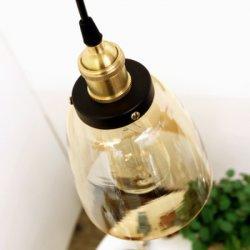 ペンダント灯をハングさせる現代E27コニャックのガラス装飾的な単一のシャンデリア