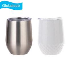Cáscara de Huevo doble pared del vaso de la sublimación de la copa de vino de acero inoxidable