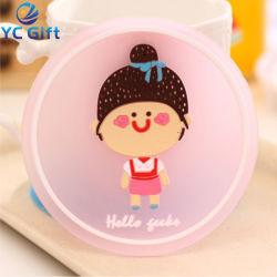 Prezzo di fabbrica Custom Moda Cartoon Girl PVC Coaster per promozione Regalo (CS07-C)