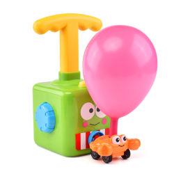 El lanzamiento de globos Powered coche, un globo inflado de aire de inserción de la mano de plástico Mini globo de la Fuerza Aérea Racer el vehículo alquiler de juguetes para niños de regalo (Patito)