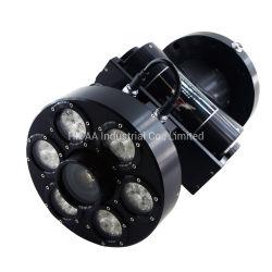 Maquinado CNC de alta calidad cámara subacuática de aluminio anodizado negro carcasa resistente al agua