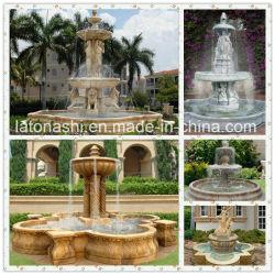 정원 장신구를 위한 자연적인 돌 또는 사각 대리석 또는 화강암 또는 옥외 또는 조각품 또는 동상 또는 백색 황금 또는 노란 또는 불꽃 놀이 분수 또는 가정 훈장 또는 조경 또는 야드