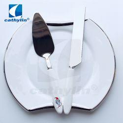 セラミックハンドルステンレススチール製金属製ギフト用ケーキナイフ