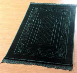 Polyester gaufré Mink Raschel tapis de prière islamique musulmane