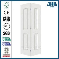 Двойной белой Bi-Folding Внутренних Дел деревянные складные двери (JHK-B03)