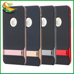 Platz Royce Fall TPU PC Kickstand Schutz-beweglicher Handy-Fall für Apple iPhone 6 6s 7 8 X plus harten Fall-Deckel