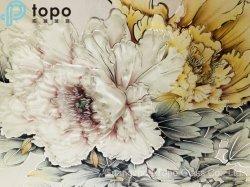 Parete di vetro glassata della pittura di alta trasmissione di segretezza con il fiore (PG-TP003)