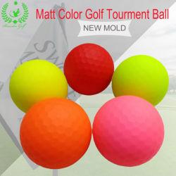 Color de la superficie cubierta de mate de Matt Bola de Golf