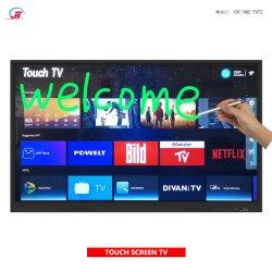 شاشة تلفزيون تفاعلية تعمل باللمس بجودة عالية بسعر مناسب لعام 2020 تلفزيون ذكي LED بدقة 4K فائقة الوضوح للغاية مع لوحة كتابة إلكترونية لـ التعليم في مجال الأعمال التجارية