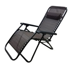 Zero Gravity Patio Chaise longue de pliage Fauteuil inclinable réglable Beach Chaise de Salon