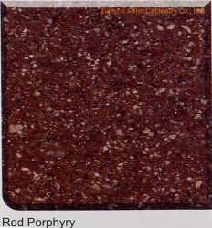 Красный цвет Porphyry полированного гранита