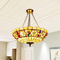 지중해 쉘 샹들리에 Tiffany 거실 연구 결과 침실 펀던트 램프