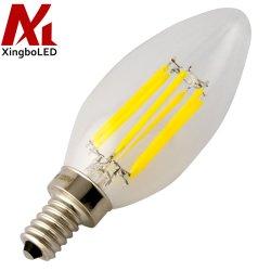 Регулируемый 220V 110V 4W светодиодная свеча накаливания мощностью 5 Вт