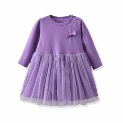 Bebé ropa de niñas se adapten a la princesa de manga larga vestidos trajes Set