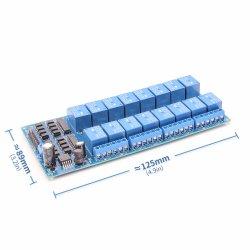 5V du module de relais 16 canaux avec la lumière d'alimentation LM2576 de couplage