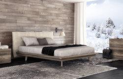 Base di legno d'acciaio moderna di qualità superiore del cuoio del tessuto da arredamento del blocco per grafici