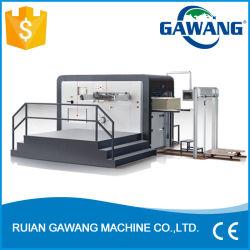 Professionnels de l'alimentation feuille à feuille automatique de rainage industrielle Die Machine de découpe pour l'emballage en carton