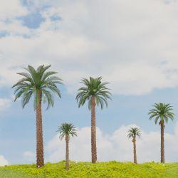 코코스 누시페라 잎이 있는 미니어처 스케일 모델 팜 트리 모델 풍경의 야자수 기차 레이아웃