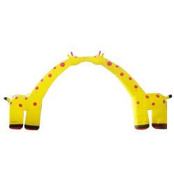 エアーアーチは競争 Inflatable アーチを動かす注文の印刷のスポンサーのロゴを動かす