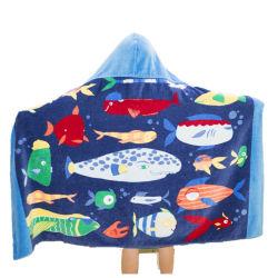 Профессиональные заводская цена Cute активно печать детский пляжные полотенца колпачковая Surf Poncho