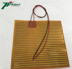 Calefacción eléctrica de poliimida flexible película calentador para calentamiento del espejo de coches