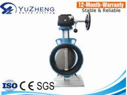 플랜지/웨이퍼 공압 액추에이터가 있는 웨이퍼 유형 중심 버터플라이 밸브