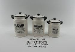 Adesivo de cerâmica de tempero de cozinha Recipiente Clássico