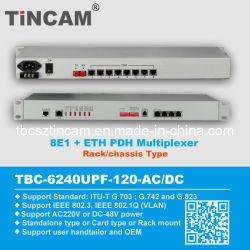 8e1+Ethernet Pdh Fiber Optical Multiplexer