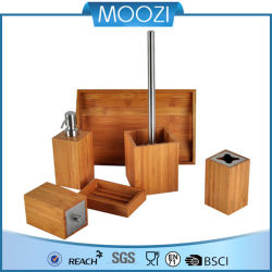 Conjunto de bambu quadrado para banheiro