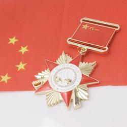Dom personalizado crachá personalizado soldado de estilo chinês Design Medalha de Honra Esmalte Fundido esmalte macio respeitável Medalha Emblema Militar de metal para a Loja