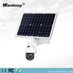 Panneau solaire Wardmay 90W P2P 4G WiFi Caméra IP couleur objectif zoom 20x caméra dôme PTZ