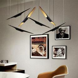 Современным акцентного освещения металлические трубы современной подвесной светильник для спальни