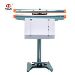 Duoqi SLP-450*1 de la industria alimentaria armazón de aluminio Pedal de pie de la máquina de sellado con cinta de color de la codificación de banda