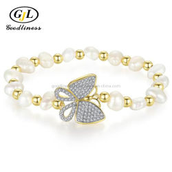 La nature Bijoux en perles baroques cordon bracelet Ruby CZ Mode bijoux